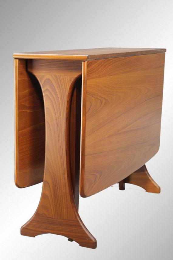 stunning danish modern teak dining table apartment size drop