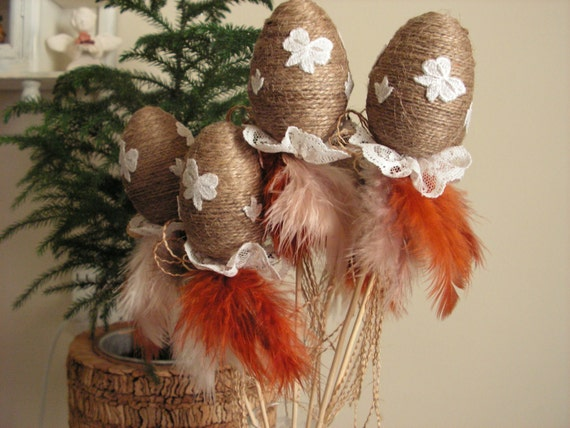 Rustic Easter eggs - set 6.