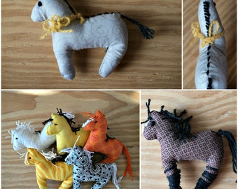 Plush Ponies // Custom Horse Christmas Ornament