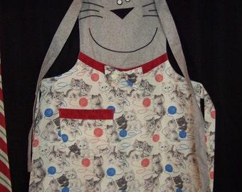Cat themed apron