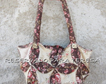 Cathedral Window Bag - Brown