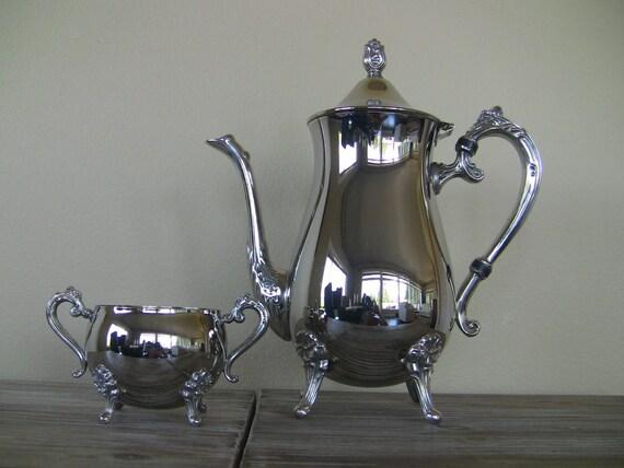 Vintage International Silver Company Coffee Teapot And Sugar