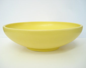 Mid Century Modern Gainey Ceramics Yellow Large Low Planter Pottery LaVerne California