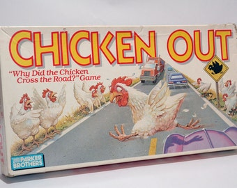 Chicken Out Game from Parker Brothers 1988 COMPLETE