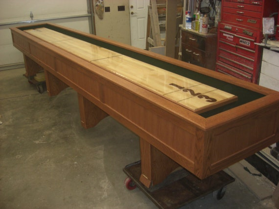 Custom Shuffleboard Table By Bsquaredinc On Etsy