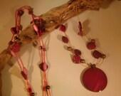 Magenta sunset 2 necklace set