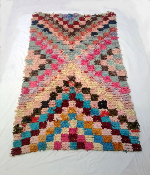 Large Vintage Moroccan Rug Woven By Hand From By