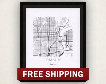 Omaha Map Print