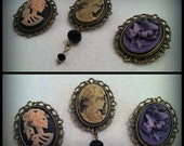 Steampunk Antique StyleVintage Cameo  Bronze effect Brooch Pin