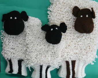hot water bottle and sheep cover