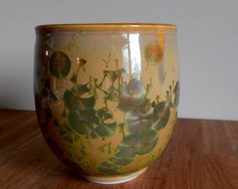 Art Pottery Vase - Artist Signed - Oxidation Fired