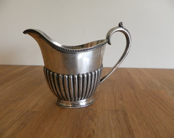 Georgian Style Early Silver Plate Creamer / Sauce Boat - English Made