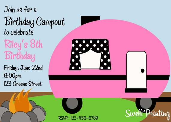 Camping Birthday Party Invitations could be nice ideas for your invitation template