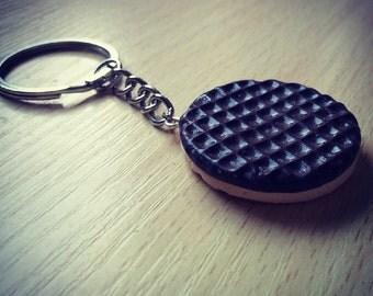 Milk Chocolate Digestive Biscuit Keychain