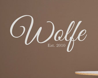 Family Name Vinyl lettering - Personalized Wall Decal -  Personalized Home Decor - Wedding Gift - Family Wall Decals