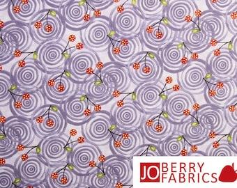 Purple Polka Dot Garden Fabric