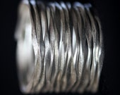 Handmade Hammered Silver Wire silver ring