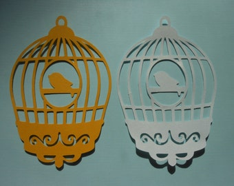 Die Cut Bird Cages -cc