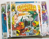 Comic - Godzilla : King of the Monsters 20 - 24  - Marvel Comics - Vintage Bronze Age (1979) - Avengers and Fantastic Four Fight Godzilla