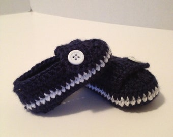 Crochet Baby Booties, Loafers, 0 to 3 Months
