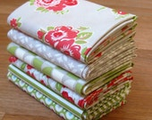 Marmalade fat quarter pack leaf cotton fabric by Bonnie & Camille