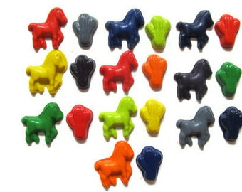 Horse and Cactus Crayons set of 20 - party favors