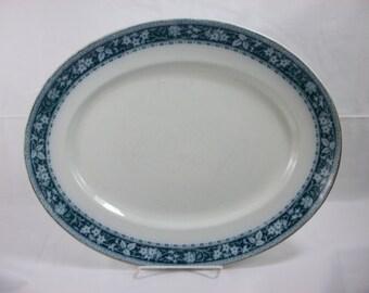 BLOWOUT SALE Arthur J Wilkinson Maple serving platter in green