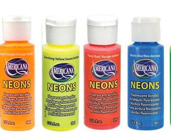 Decoart Americana Neon Acrylic Paint-choose your colour