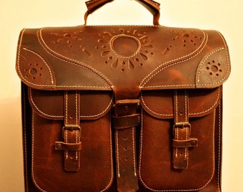 Transilvania Genuine Leather Bag, Laptop Briefcase, Ofiice Handmade Bag, made to order handmade briefcase