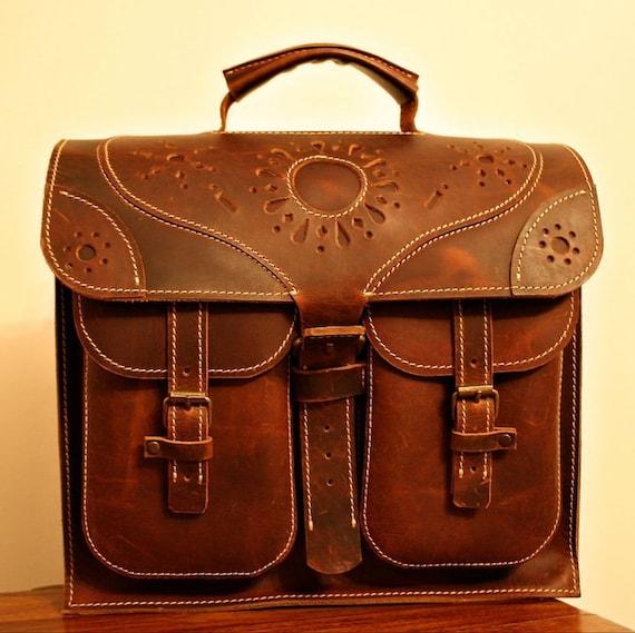 Transilvania Genuine Leather Bag, Laptop Briefcase, Ofiice Handmade Bag, made to order handmade briefcase