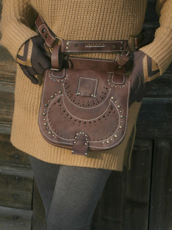 Lalibela's Genuine Leather Hipbag, High Quality Handmade Pocket Belt Bag 4 Gypsy/Nomad/Urban Lifestyle Festival.Travel