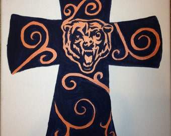16x20 Chicago Bears Painting