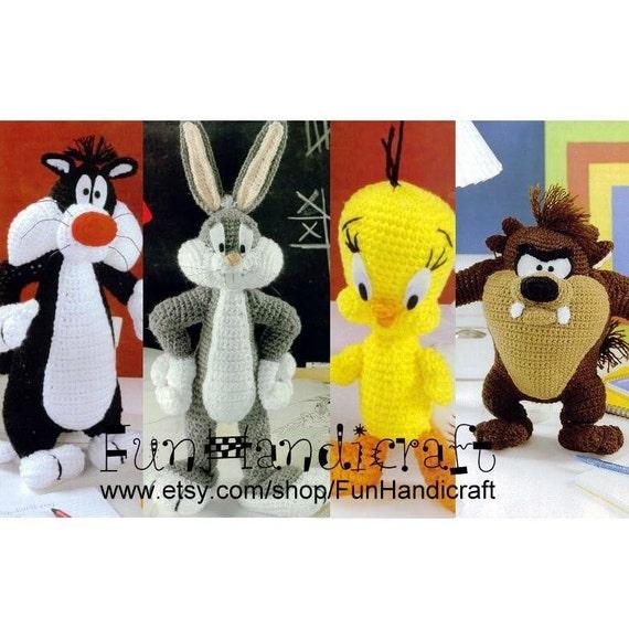 Amigurumi Bugs Bunny Yapilisi : Sconto Looney Tunes 4 in 1 modello di Amigurumi di ...