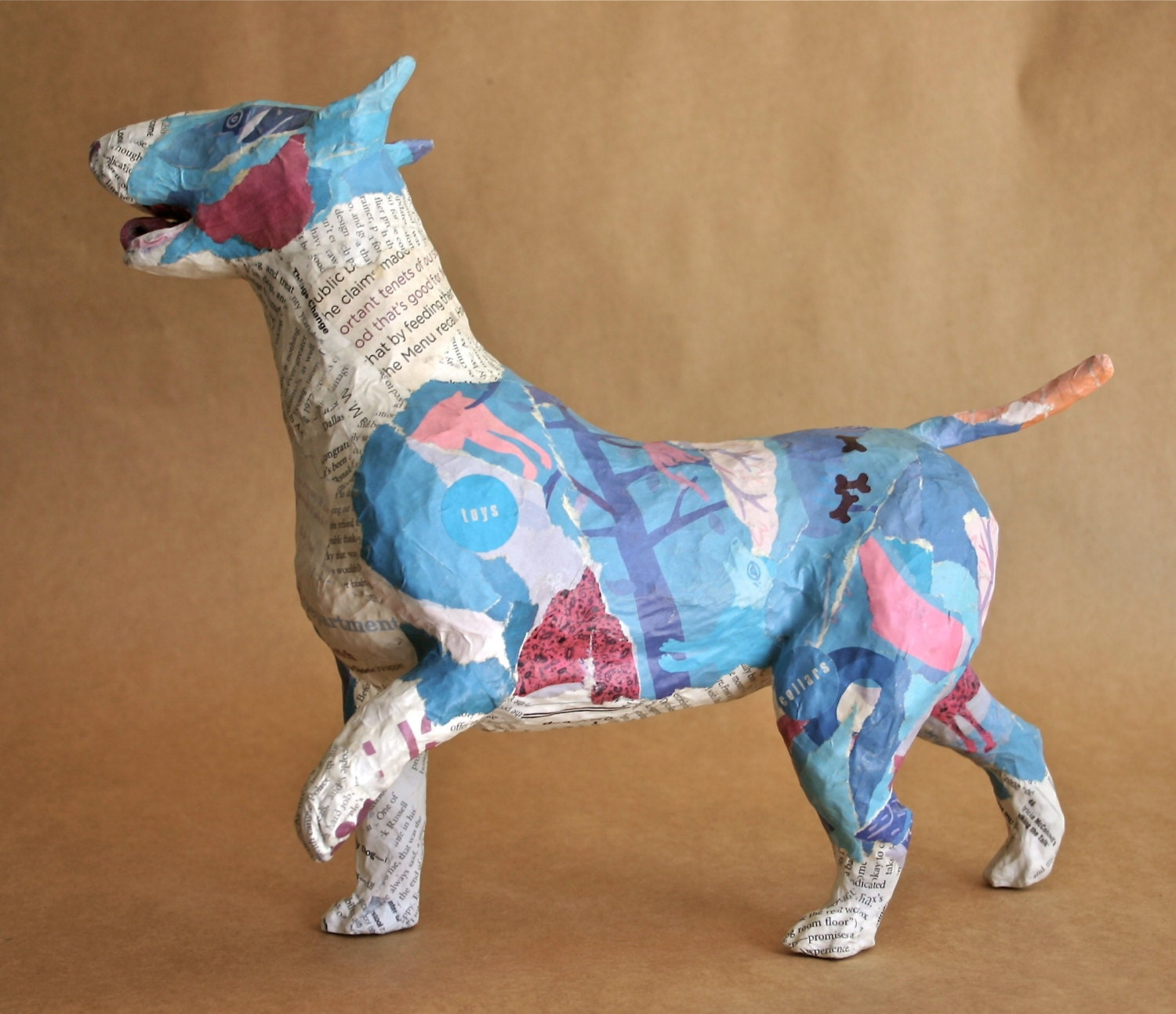 how to make a dog out of paper mache