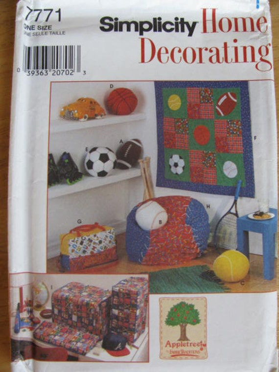 Https Www Etsy Com Listing 127701133 Simplicity 7771 Home Decorating Teens Utm Medium Product Listing Promoted Utm Source Bing Utm Campaign Supplies Pattern