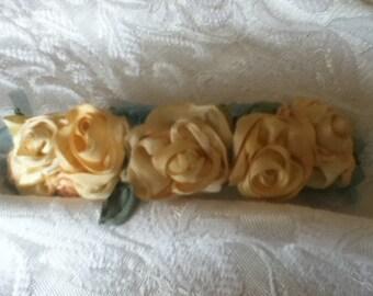 Yellow Rose Barrette