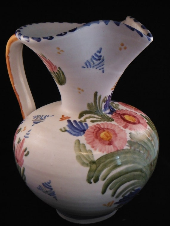 Vintage Pottery By Talavera Made In Spain Vase Pitcher