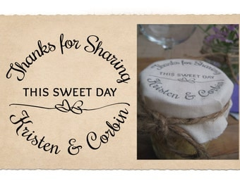 Custom Rubber Stamp, Wedding Favor Stamp, Corbin
