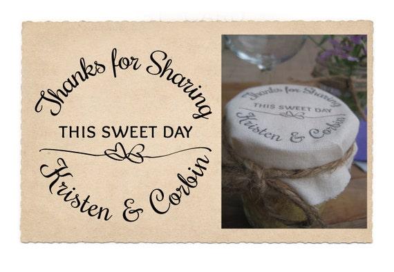 custom rubber stamp wedding favor stamp corbin