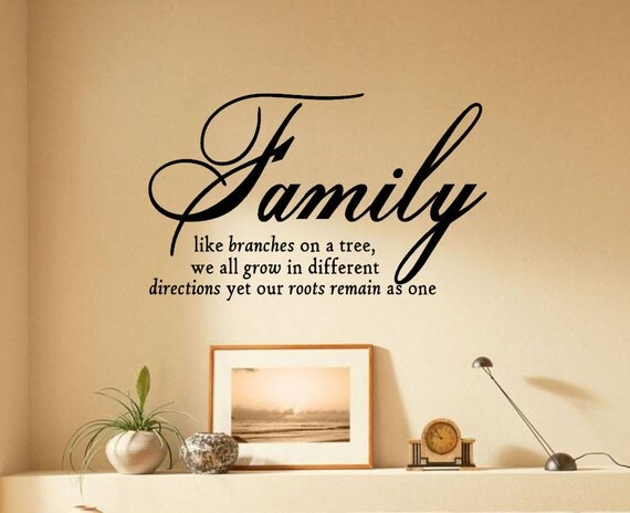 Like Branches On A Tree Quote: Family Like Branches On A Tree We All Grow In By Vinylxsticker