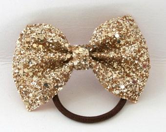 Gold Glitter ponytail holder
