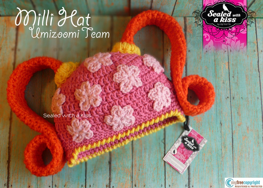 Free Crochet Patterns For Character Hats : CROCHET PATTERN Milli Hat UmiZoomi Team Character hat. Girl