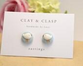 Little Bird Earrings - beautiful handmade polymer clay jewellery by Clay & Clasp