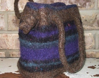 Exceptional hand made wool felted transistion handbag