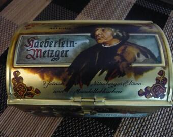Vintage  Haeberlein Metzger Nornberg Tin  Kaiser Maximilian I Made in Germany