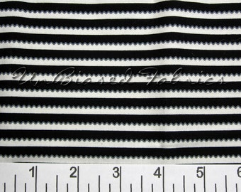Black/ White Itty Bitty Ric Rac Stripe from LakeHouse Fabrics (LHC10071-BLA) - Yardage