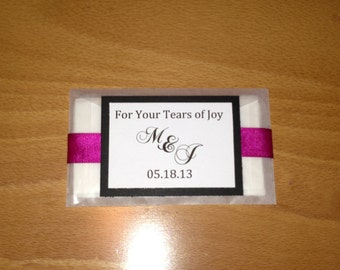 Personalized Custom Tissue Packets - Tears of Joy - Wedding, Celebration, Special Occasion