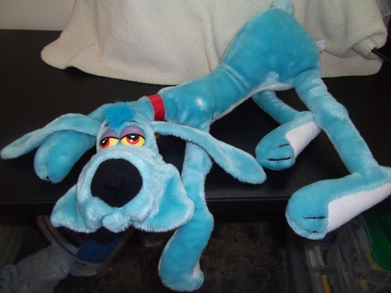 1984 foofur dakin phil mendez 20 plush stuffed blue dog. Black Bedroom Furniture Sets. Home Design Ideas