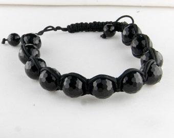 Black Onyx Adjustable Bracelet