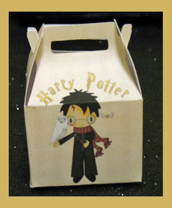 Harry Potter Favor Box Hermoine Birthday Favor By Tinygiftboxes